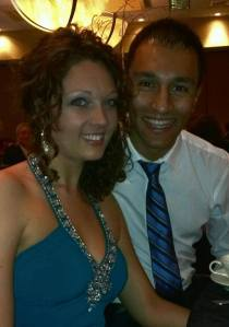 At the military ball...loving our time together