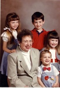 Me,  Cousin Aaron, Cousin Chelsey, Brother AJ, and Grandmother Reynolds