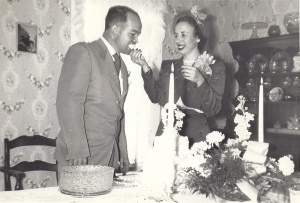 James and Wanda Reynolds on their Wedding Day