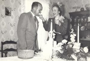 James and Wanda Reynolds on their Wedding Day